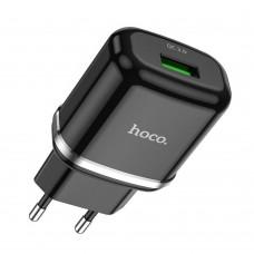 Сетевое зарядное устройство адаптер Hoco N3 QC3.0 1USB черный