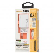 Сетевое зарядное устройство Moxom MX-HC25 Type-C PD+QC3.0 USB-C белый