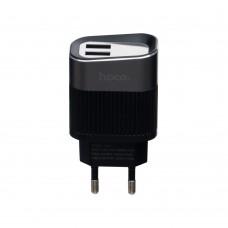 Сетевое зарядное устройство адаптер Hoco C40A Led 2USB черный