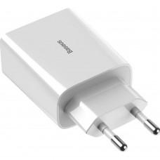 Сетевой адаптер Baseus Speed Mini QC Dual-U 18W белый