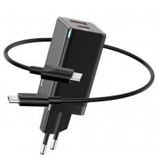 Сетевое зарядное устройство Baseus GaN C+С 45W Type-C to Type-C черный