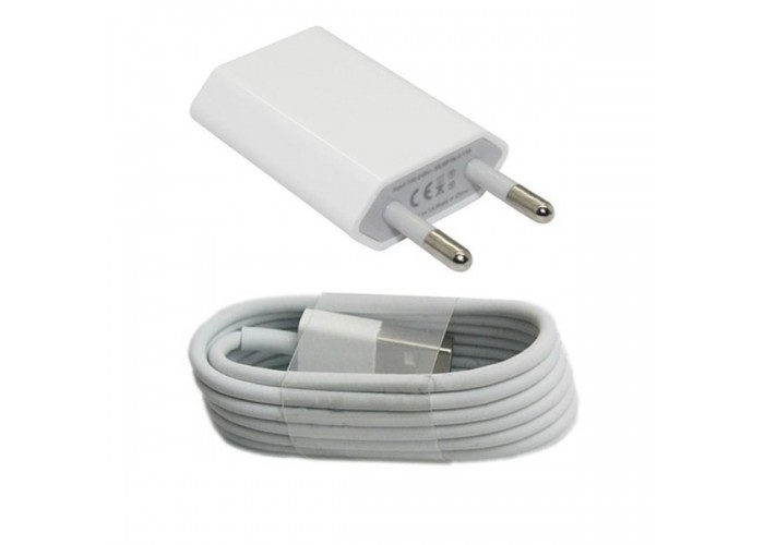 Портативное зарядное устройство + кабель для iPhone/iPad/iPod