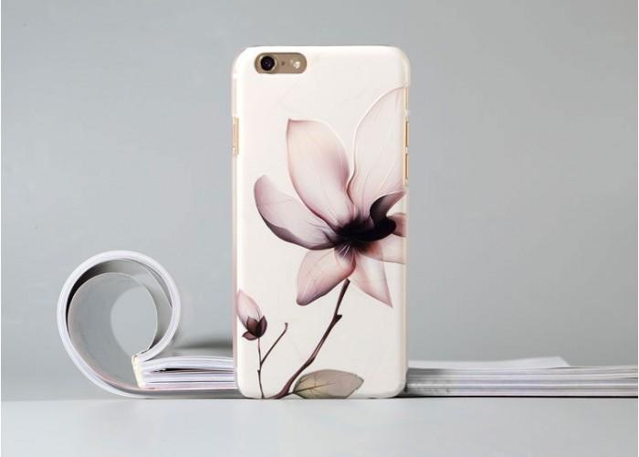 Пластиковый чехол для iPhone 6/6S с рельефной цветочной композицией