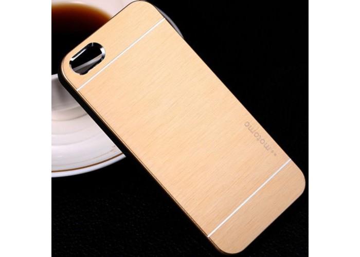 """Ультратонкий алюминиевый бампер для iPhone 5/5S с панелью """"Под золото"""""""