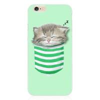 """Силиконовый чехол для  iPhone 6/6S с принтом """"Кот в чулке"""""""