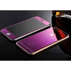 Двухстороннее цветное защитное стекло для iPhone 6/6S