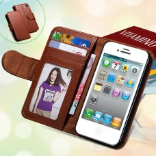 Чехол-кошелек для iPhone 5/5S (коричневый)