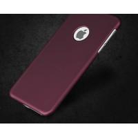Жесткий пластиковый чехол для iPhone 6/6S (бордовый)