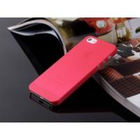 Ультратонкий чехол для iРhone 5/5S  (красный)