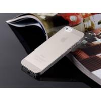 Ультратонкий чехол для iРhone 5/5S  (серый)