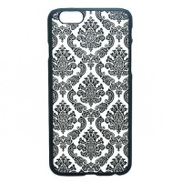 Пластиковый чехол для iPhone 6/6S с серым цветочным орнаментом