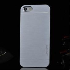"""Ультратонкий алюминиевый бампер для iPhone 5/5S с панелью """"Под серебро"""""""