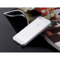 Ультратонкий чехол для iРhone 5/5S  (белый)