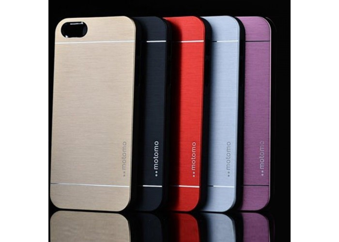 Ультратонкий алюминиевый бампер для iPhone 5/5S с панелью (розовый)
