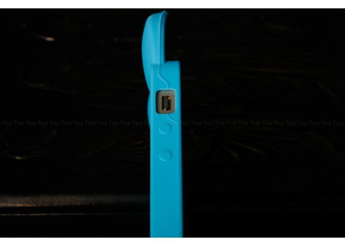 """Силиконовый чехол для iPhone 5/5S """"Кошачьи ушки"""" (голубой)"""