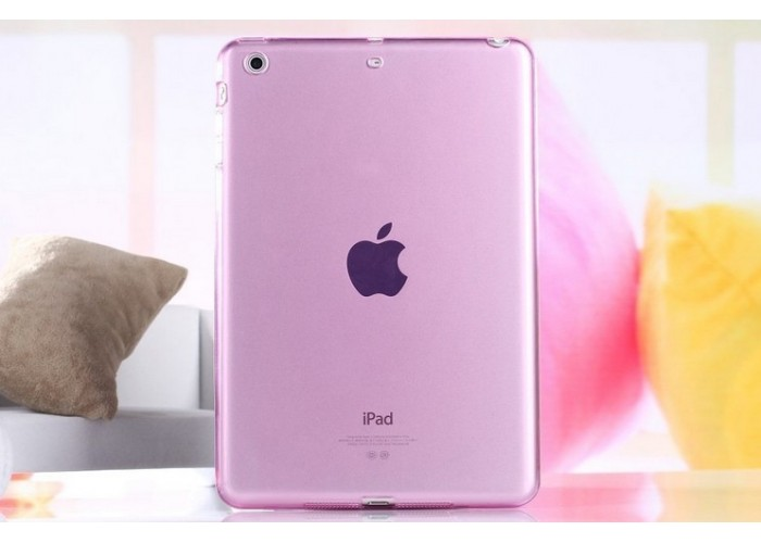 Прозрачный чехол для iPad mini 1/2/3 (розовый)