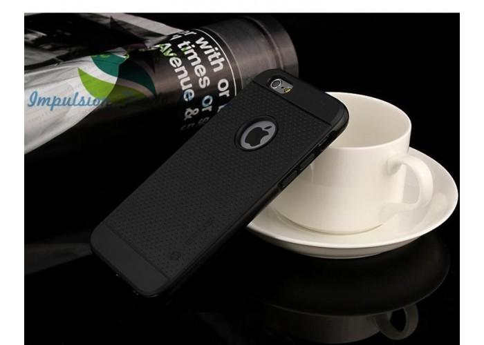Черный бампер c силиконовыми накладками для iPhone 6/6S