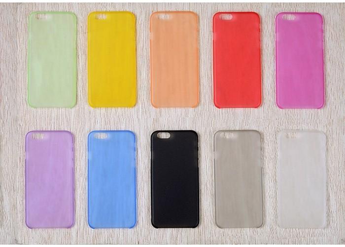 Пластиковый ультратонкий чехол для iPhone 6/6S (Оранжевый)