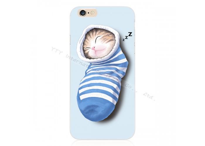 """Силиконовый чехол для  iPhone 6/6S с принтом """"Котенок в носке"""""""