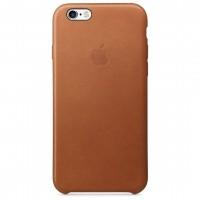 Кожаный чехол Apple Leather Case Saddle Brown для iPhone 6 6s (копия)