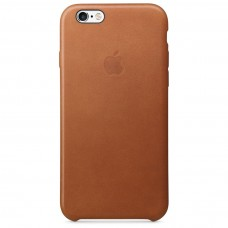 Apple leather case iphone 6 6s saddle brown (ярко-коричневый) купить Киев Украина - apple iphone 6 leather case