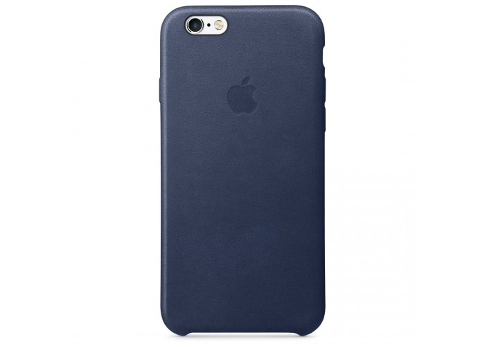 Кожаный чехол Apple Leather Case Midnight Blue для iPhone 6 6s (копия)