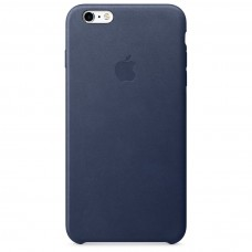 Кожаный чехол Apple Leather Case Midnight Blue для iPhone 6 Plus 6s Plus (копия)