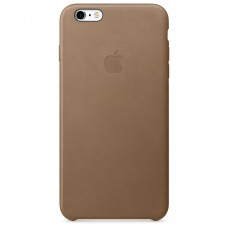Кожаный чехол Apple Leather Case Brown для iPhone 6 Plus 6s Plus (копия)