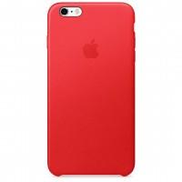 Кожаный чехол Apple Leather Case Red для iPhone 6 Plus 6s Plus (копия)