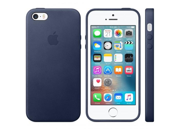 Чехол для iPhone 5/5s Apple Leather Case Midnight Blue (копия)
