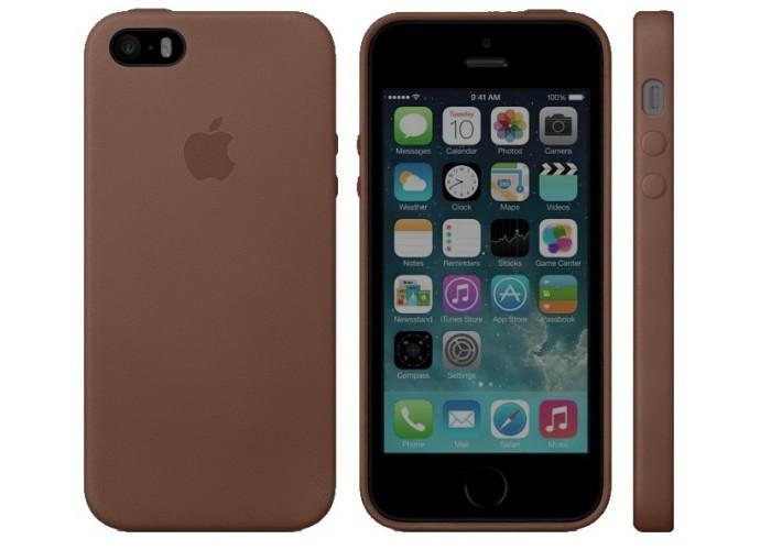 Чехол для iPhone 5/5s Apple Leather Case Brown (копия)