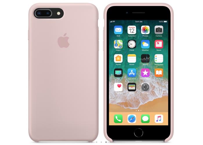 Силиконовый чехол Apple Silicone Case Pink Sand для iPhone 7 plus/8 plus (Реплика)
