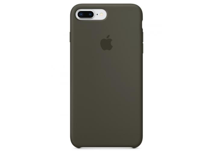 Силиконовый чехол Apple Silicone Case Dark Olive для iPhone 7 plus/8 plus (Реплика)