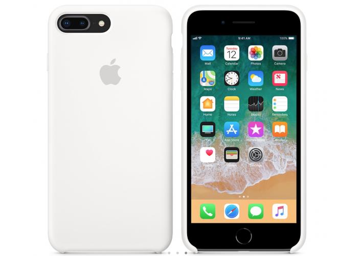 Силиконовый чехол Apple Silicone Case White для iPhone 7 plus/8 plus (Реплика)
