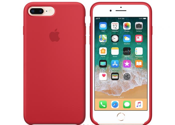 Силиконовый чехол Apple Silicone Case Red для iPhone 7 plus/8 plus (Реплика)
