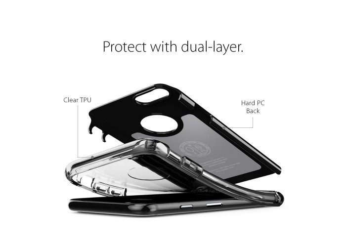 Чехол Spigen Hybrid Armor Jet Black для iPhone 7