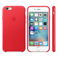 Apple Leather Case Red Original 6/6s