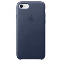 Кожаный чехол Apple Leather Case Midnight Blue для iPhone 7/iPhone 8 (копия)