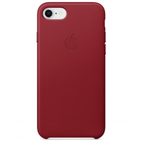 Кожаный чехол Apple Leather Case Red для iPhone 7/iPhone 8 (копия)
