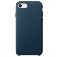 Кожаный чехол Apple Leather Case Cosmos Blue для iPhone 7/iPhone 8 (копия)
