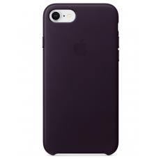 Apple leather case iphone 7 Dark Aubergine (темно-фиолетовый) купить Киев Украина - apple iphone 7 leather case