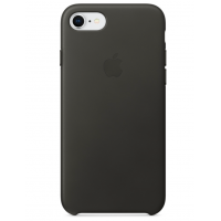 Кожаный чехол Apple Leather Case Charcoal Gray для iPhone 7/iPhone 8 (копия)