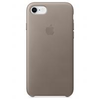 Кожаный чехол Apple Leather Case Taupe для iPhone 7/iPhone 8 (копия)