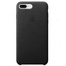 Apple leather case iPhone 7plus/8plus Black (черный) купить Киев Украина - apple iphone 7plus leather case