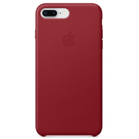 Кожаный чехол Apple Leather Case Red для iPhone 7 plus/iPhone 8 plus (копия)
