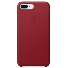 Apple leather case iPhone 7 plus/8 plus Red (красный) купить Киев Украина - apple iphone 7 plus leather case