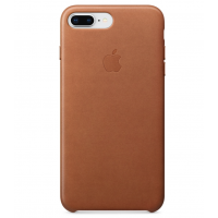 Кожаный чехол Apple Leather Case Saddle Brown для iPhone 7 plus/iPhone 8 plus (копия)