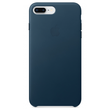 Apple leather case iPhone 7 plus/8 plus cosmos blue (синий матовый) купить Киев Украина - apple iphone 7plus leather case