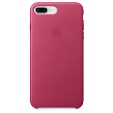 Apple leather case iPhone 7 plus/8 plus Pink Fuchsia (Розовый) купить Киев Украина - apple iphone 7 plus leather case