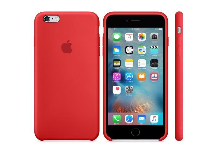 Силиконовый чехол Apple Silicon Case Red для iPhone 6 Plus/6s Plus (копия)
